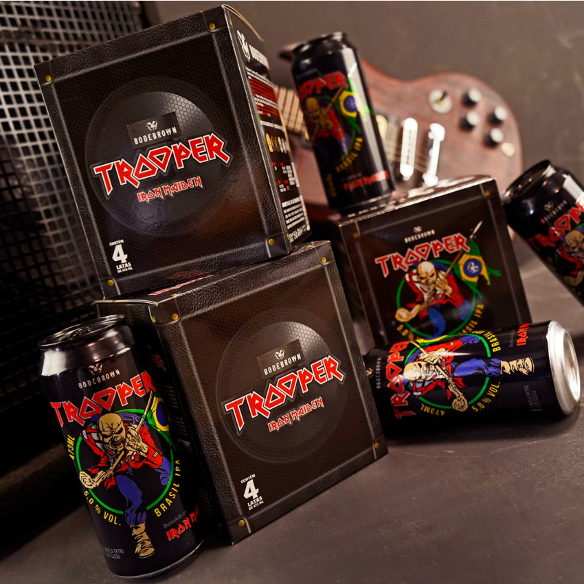 Box 4 Trooper Brasil IPA - Iron Maiden