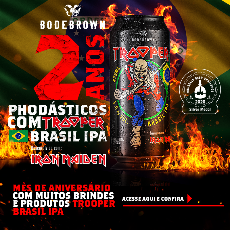 2 anos Trooper Brasil IPA